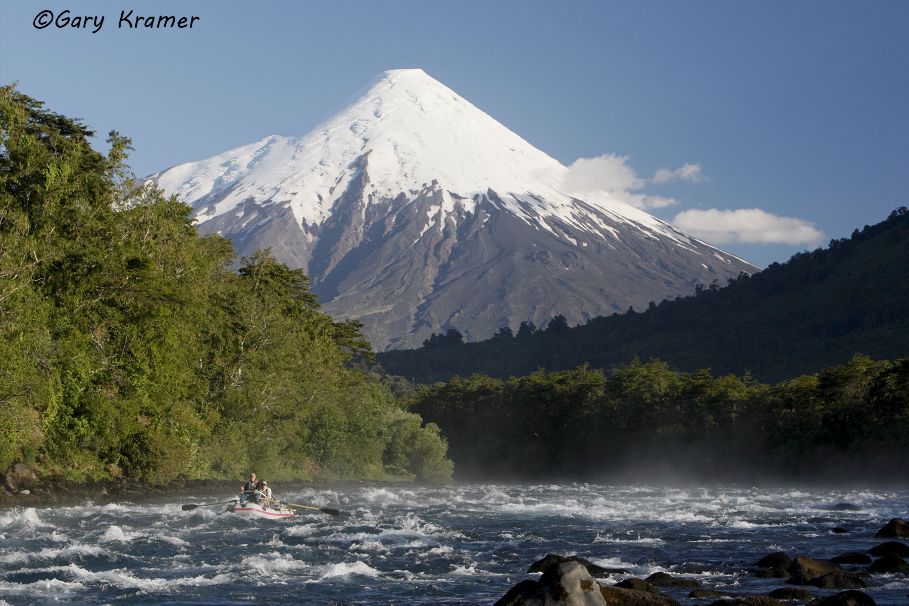 Running rapids in a rubber raft, Petrohue River, Chile - NFTCf#023d