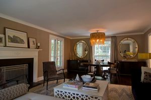 Bronxville colonialLiving and dining room