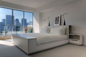 Upper East Side penthouseCustom bed and nightstands