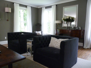 Country ColonialLiving room