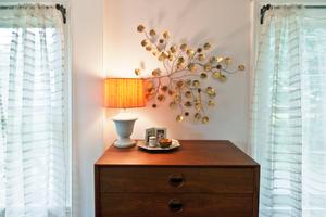 Historic modernMaster bedroom detail