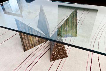 Upper West Side prewarCocktail table and custom rug detail