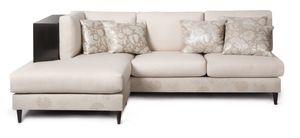 Upper West Side skyriseCustom upholstered and bronze sofa