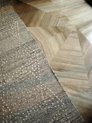 Five Star Hotel, IndiaCustom rug and stone floor detail