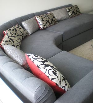 Upper West Side one bedroom Custom curved sofa