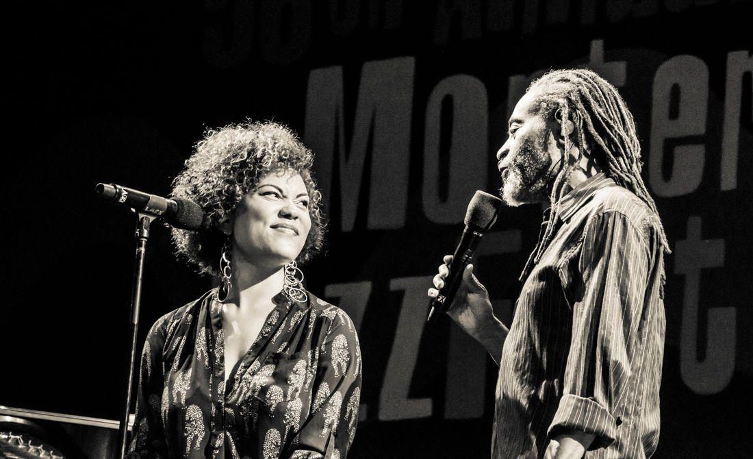 Bobby McFerrin and his daughter Madison McFerrin -- Monterey Jazz Festval 2013