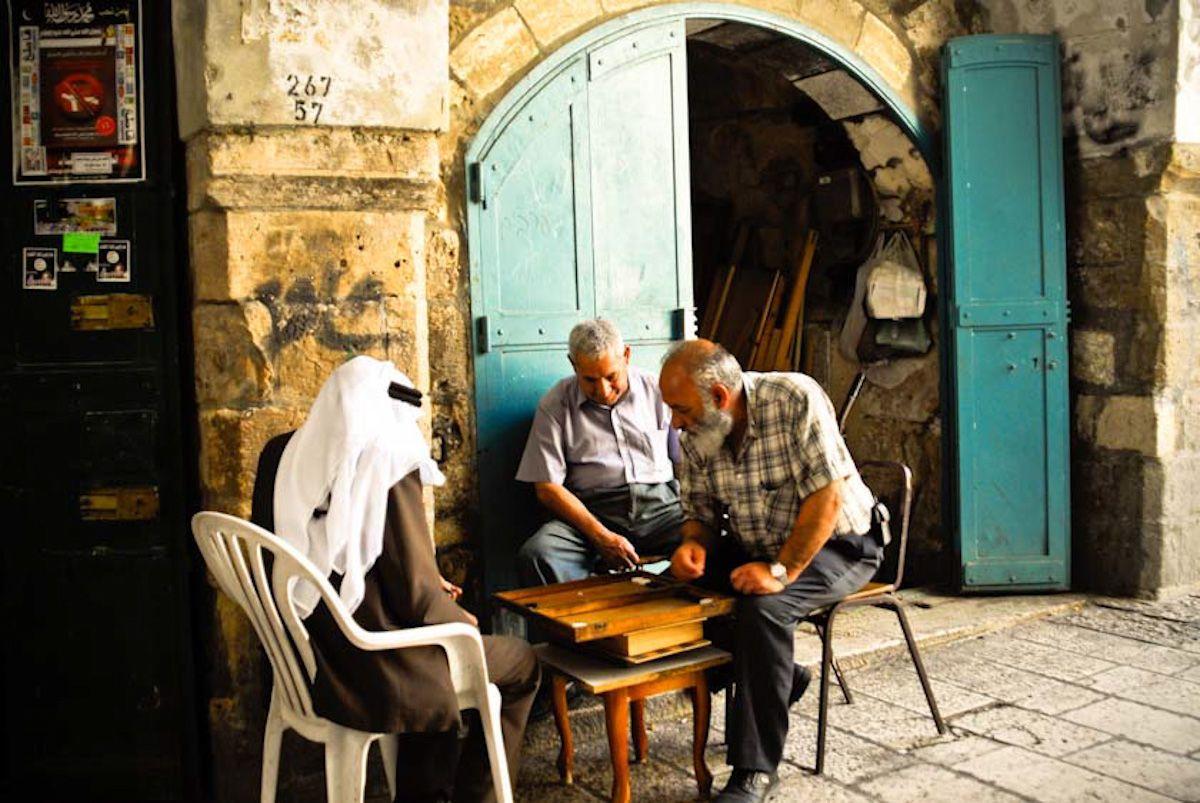 Sheshbesh in Jerusalem's Arab Market