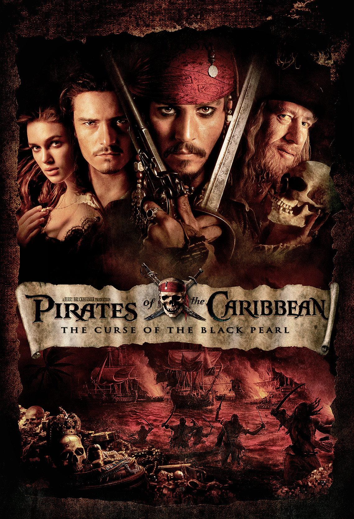 PIRATES OF THE CARIBBEAN • THE CURSE OF THE BLACK PEARL • Poster Art