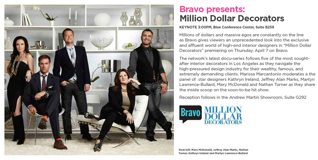 MILLION DOLLAR DECORATOR •  Teaser