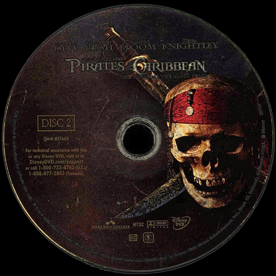 PIRATES OF THE CARIBBEAN • THE CURSE OF THE BLACK PEARL • DVD Art