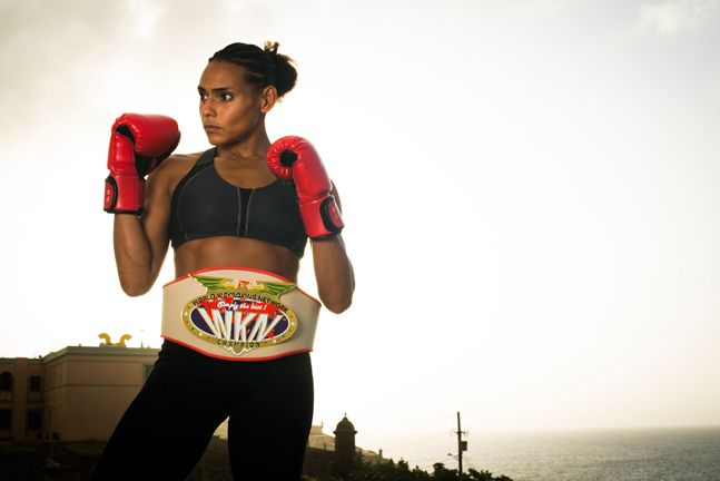 Angel Whitley. WKN Welterweight muay thai champion. Shot at La Perla, puerto Rico, where se currently resides.