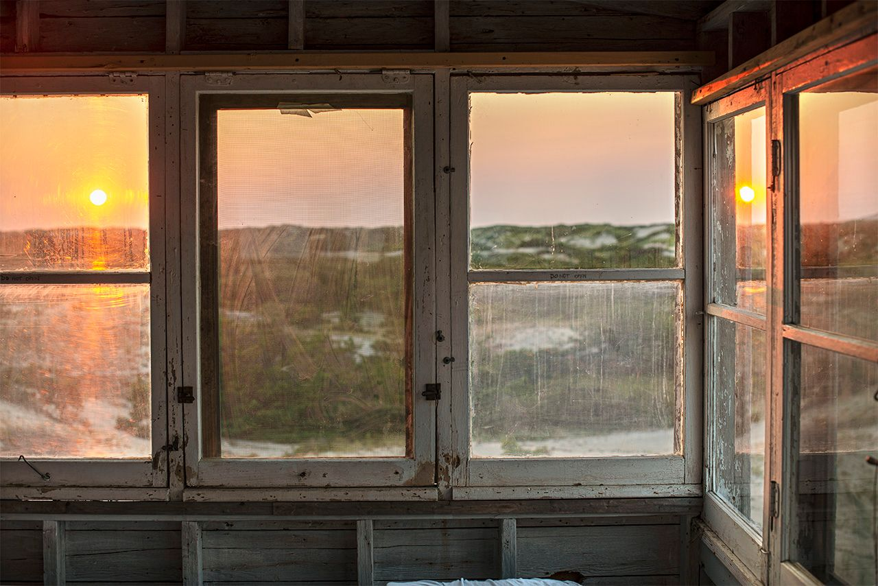 Sunset at the Wells Dune Shack