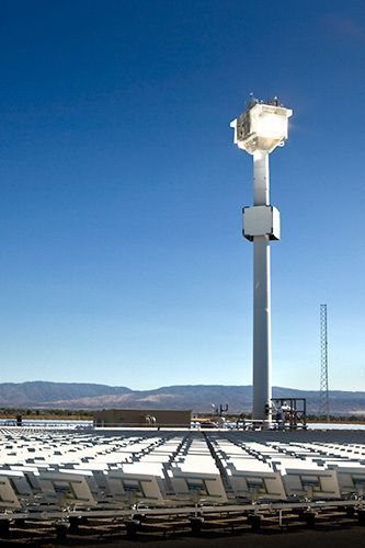 Solar Tower and Panels
