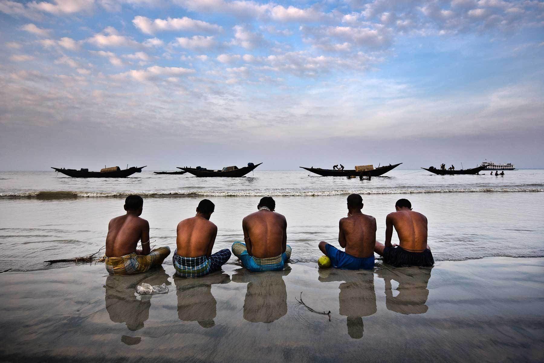 Fishermen praying for a benevolent sea
