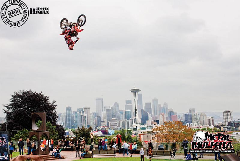 Justin Homan, Metal Mulisha Poached Ad, Seattle WA