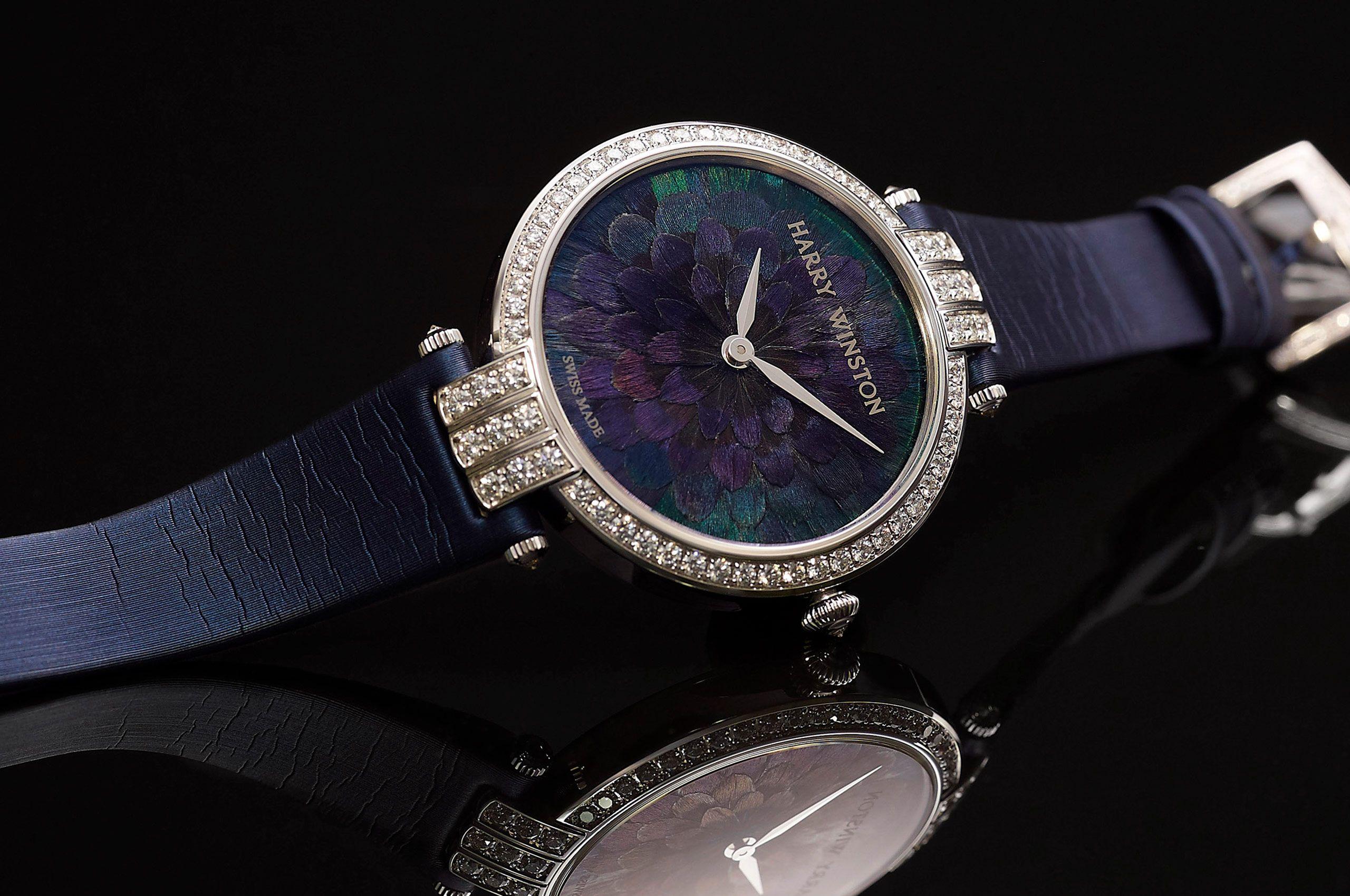 Harry Winston Premier Blue Peacock feather watch