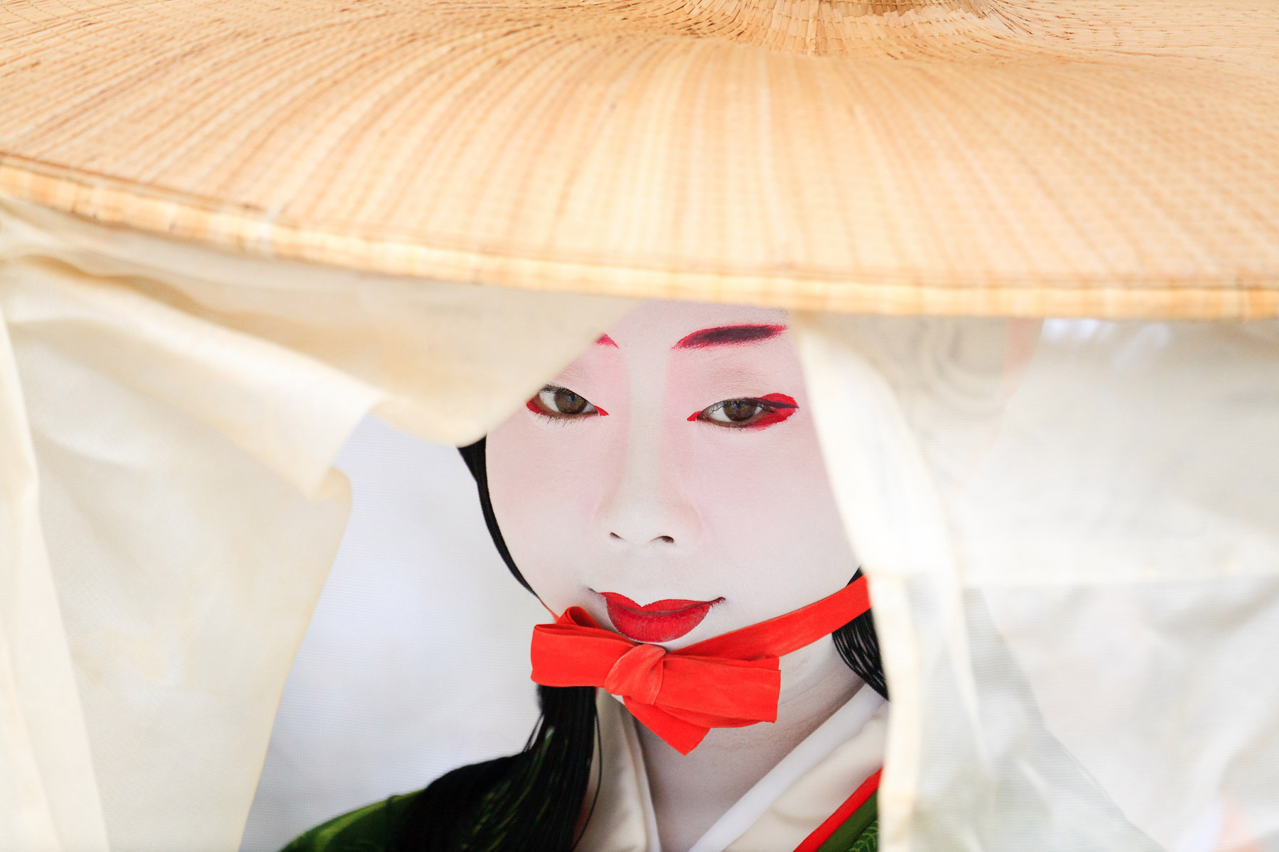 A women dressed in traditional costume for the Jidai Matsuri (Festial of the Ages), Kyoto, Japan.