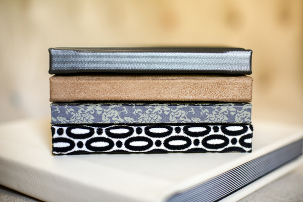 These stylishly handmade books are finely crafted with hand-tooled materials.