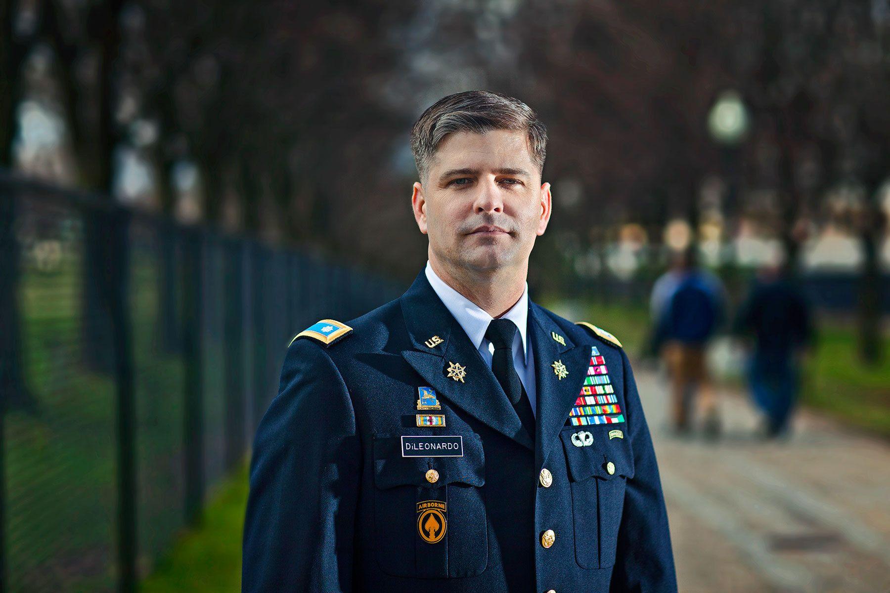US Army Lt. Colonel Al Di Leonardo near the Lincoln Memorial-  Washington, DC
