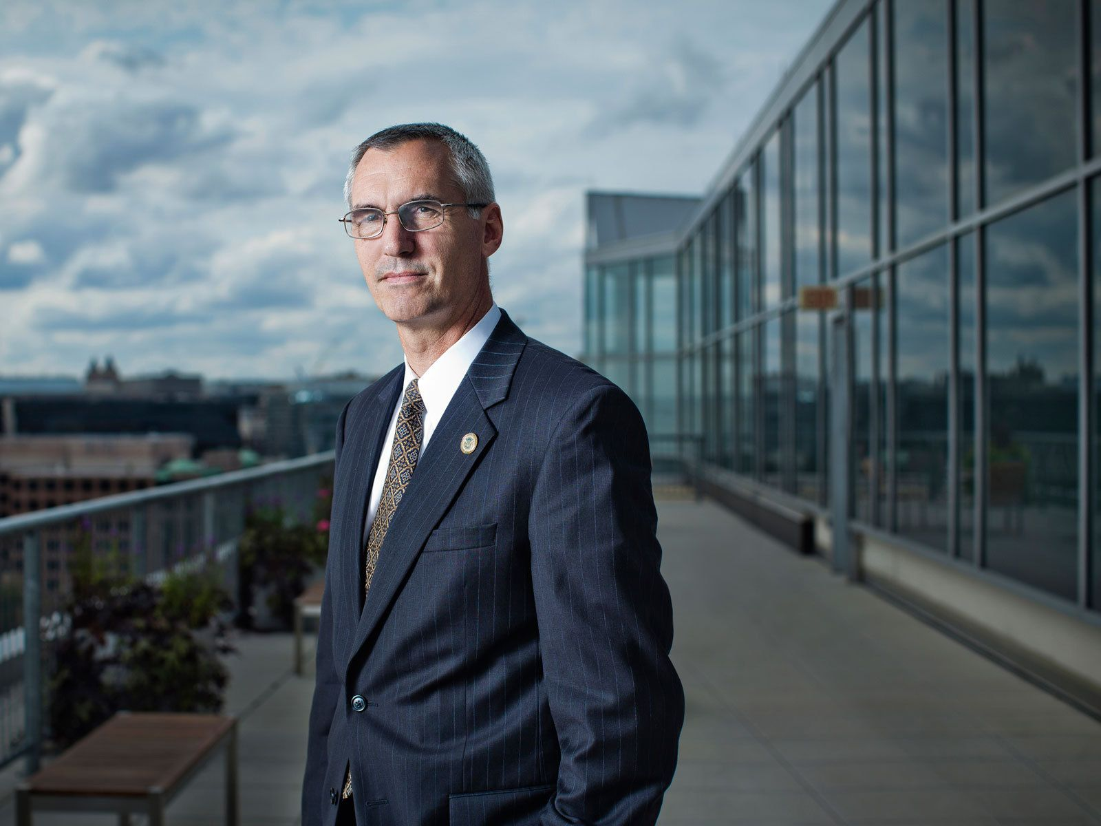 Richard Spires, Chief Information Officer-   US Department of Homeland Security on the rooftop of the Homeland Security offices overlooking Washington, DC