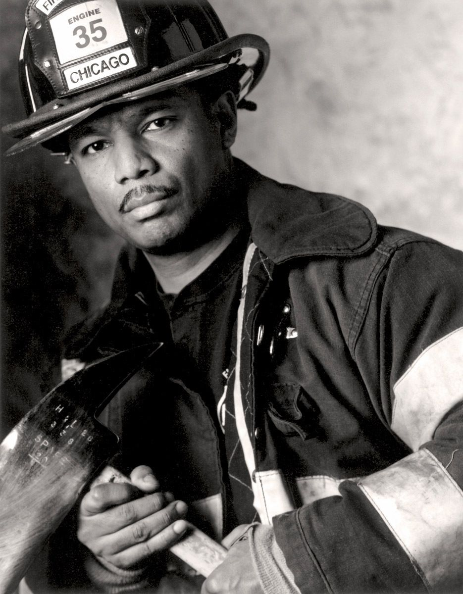 Red 35Chicago Fire Department fire fighter James Jenkins