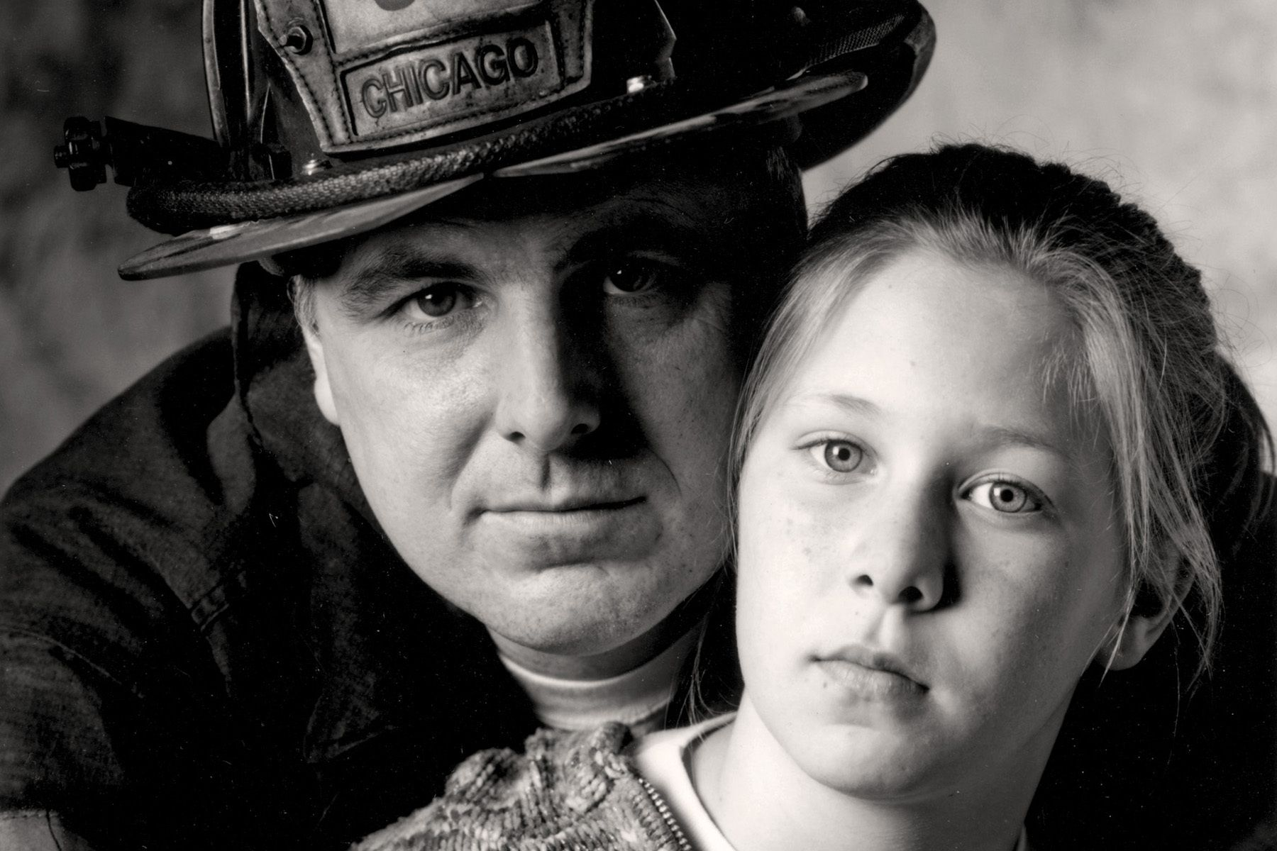 Red 35Chicago Fire Department Captain Jim Purl with his daughter