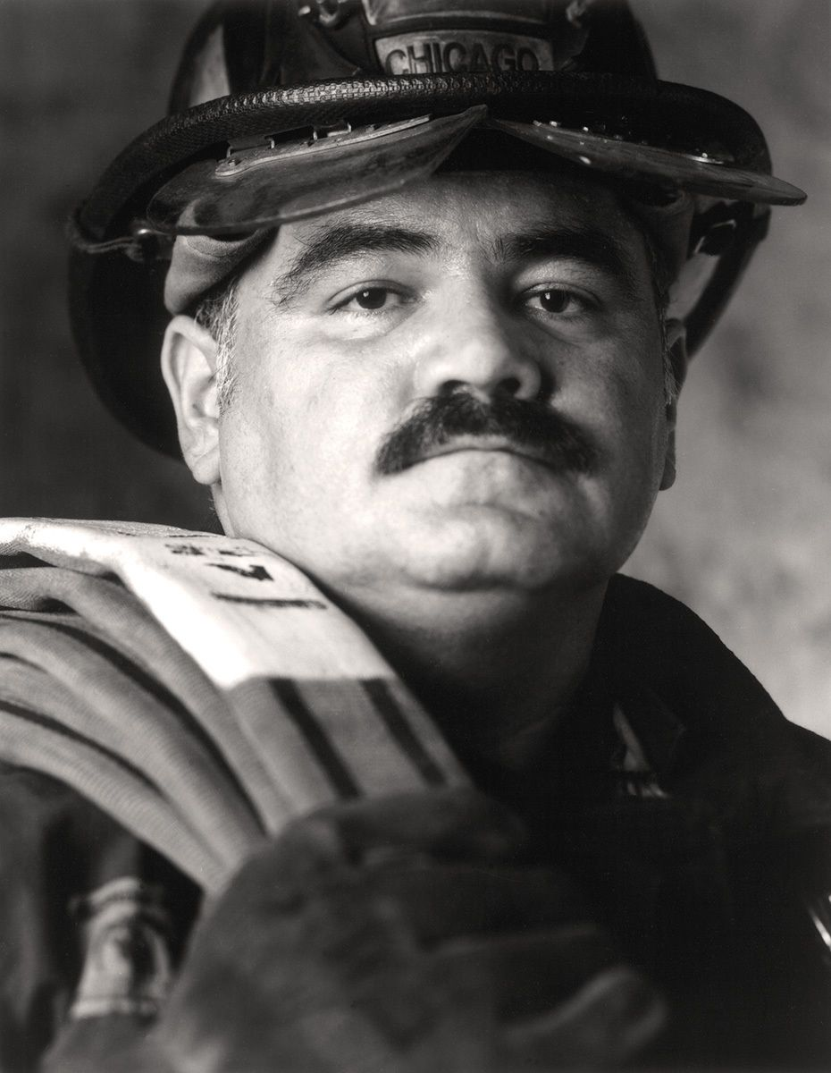 Red 35Chicago Fire Department fire fighter David Figueroa
