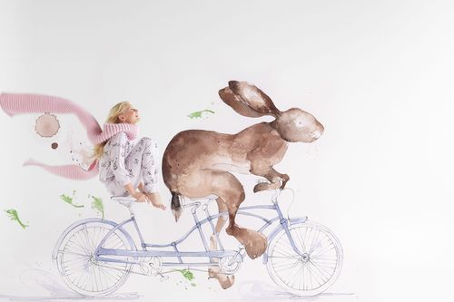 """""""Runaway Bunny"""" 2016 collection for Thread sleep wear, illustration Emma Leonard @ The Jacky Winter Group , Grooming Vic Anderson, Models Bambini Talent group"""