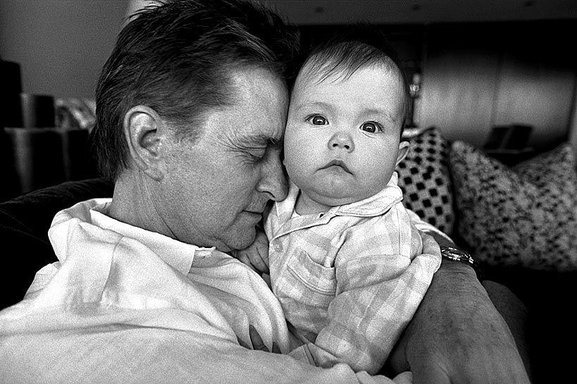Michael Douglas with son
