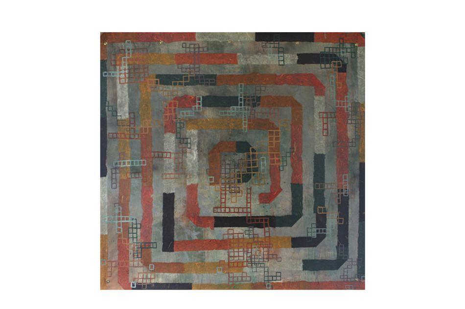 Autumn Spiral Tapestry