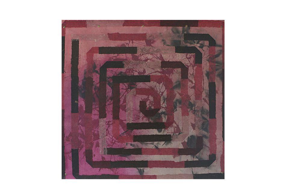 A Maze of Pink Hues Mixed Media Artwork