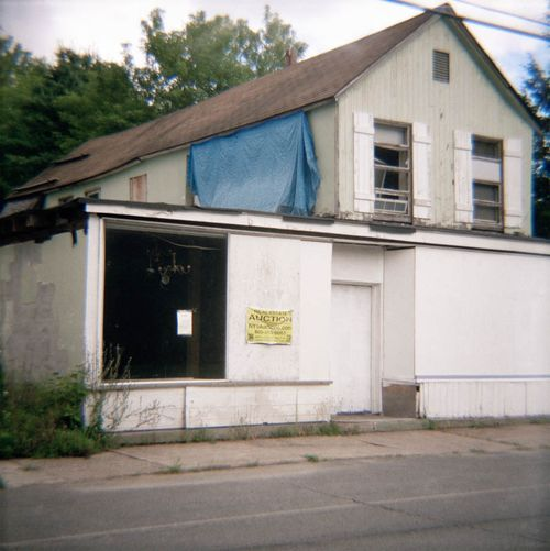 Storefront with Tarp, Mountaindale, New York, 2014