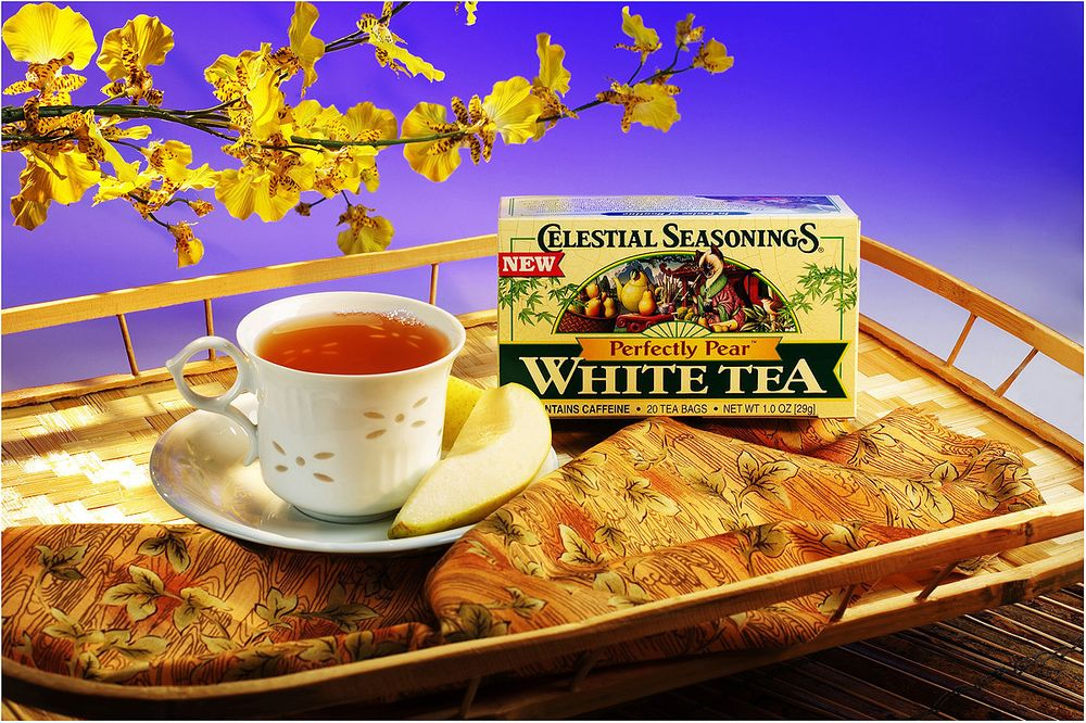 Denver Food Photographer  Celestial Seasoning Tea Ad