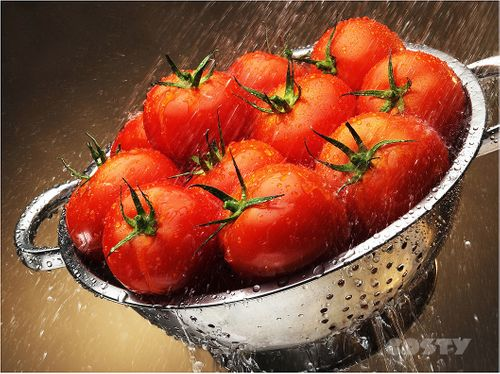 Tomatoes in  Colander Ad