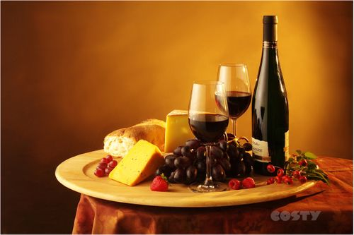 Wine and Cheese Plate Ad