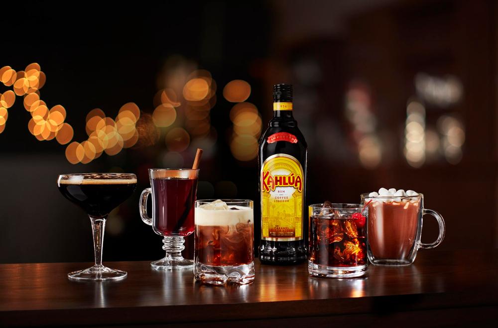 Kahlua, assorted cocktails