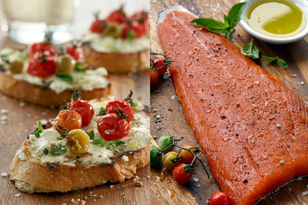 Bruschetta & Fresh Salmon Fillet
