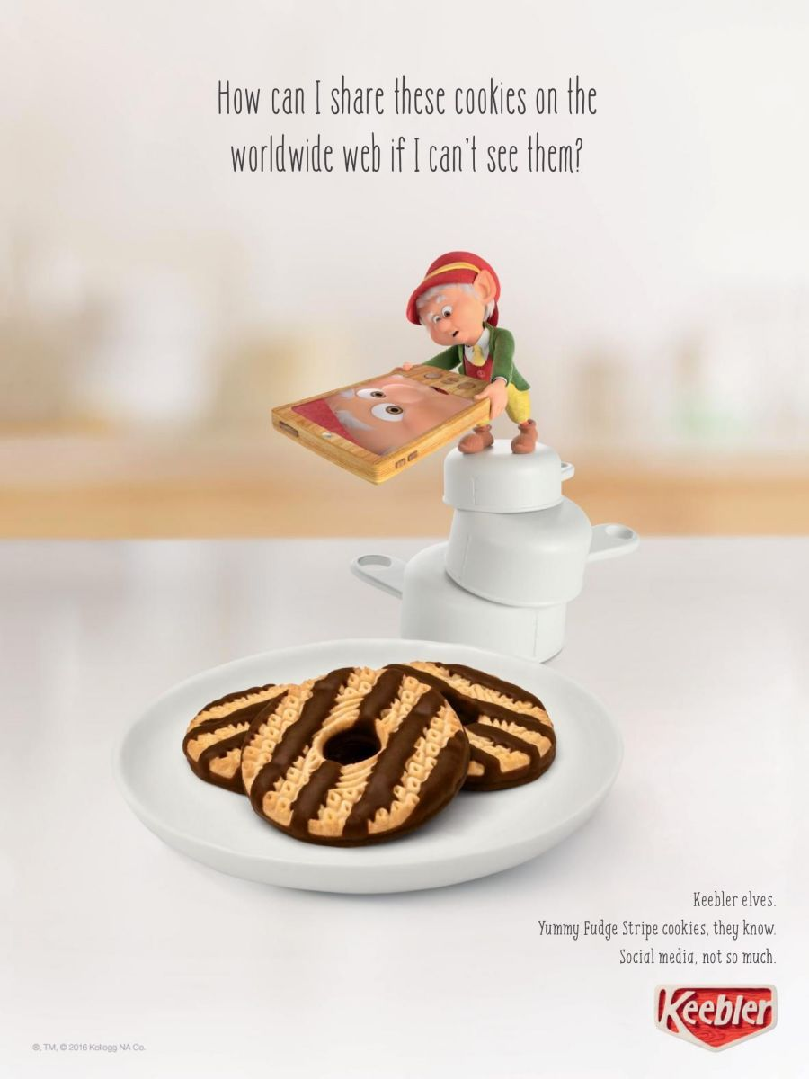 Keebler Fudge Stripe  Cookie Ad