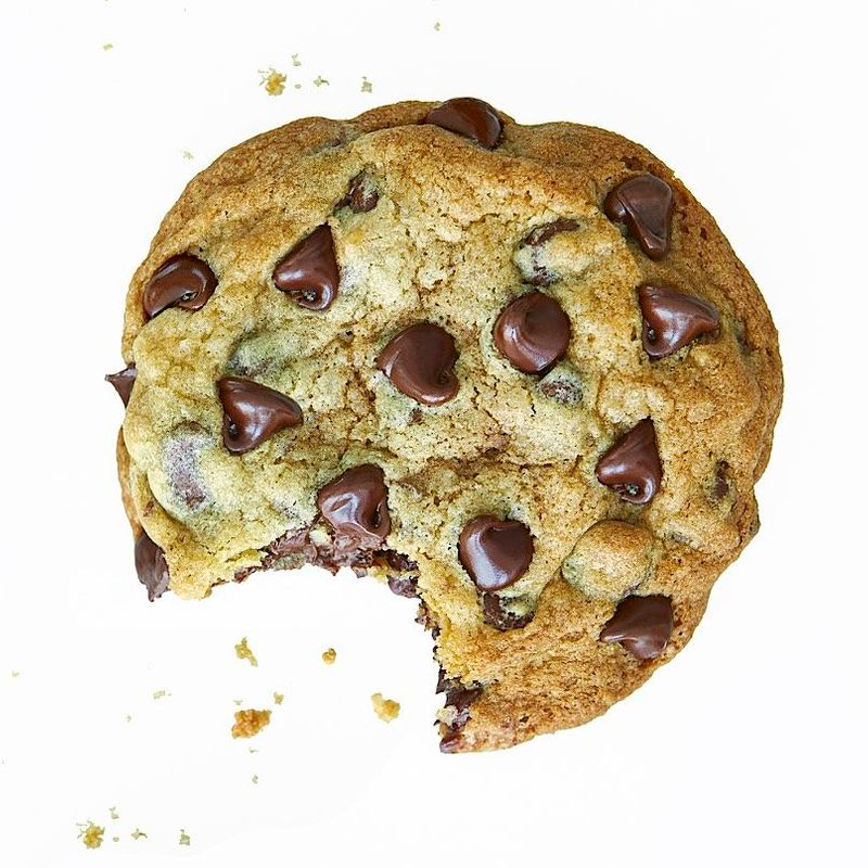 Chocolate Chip Cookie with bite