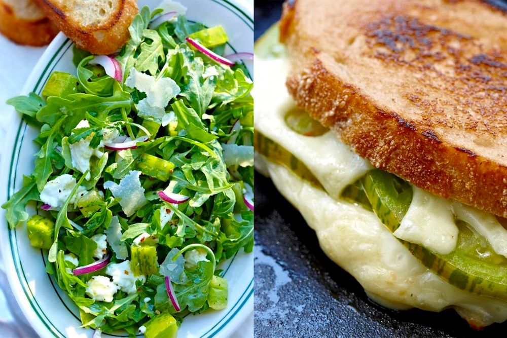 Baby Arugula Salad w/ Grilled Cheese