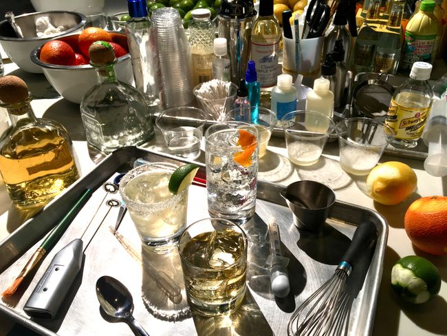 Michael Deuson drink styling prep