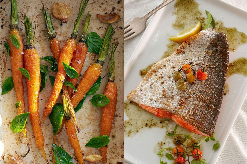 Roasted Salmon & Carrots