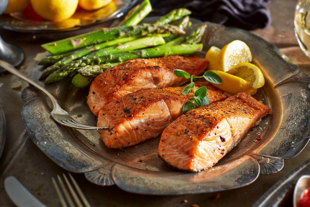 Seared Salmon Steaks