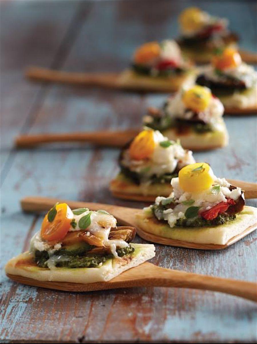 Pesto Flatbread Appetizer