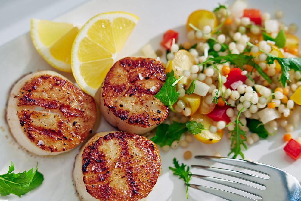 Seared Scallops with Couscous