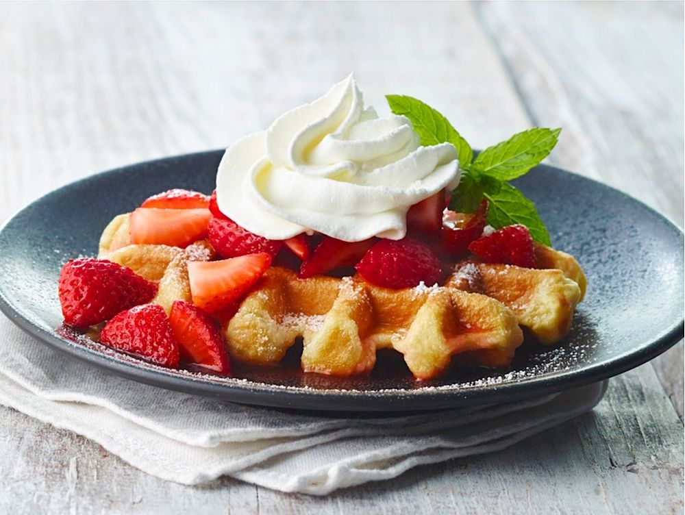 Fresh Strawberry Waffle