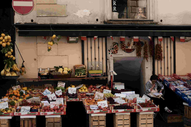 Fruit stand, Sorrento, Italy