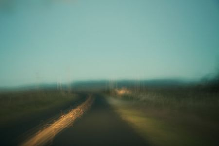 Blurred Landscape (from a moving car), Point Reyes, CA