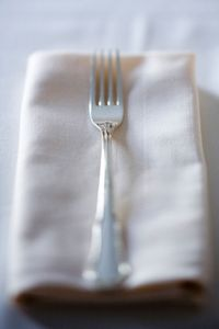 Silver Fork and Napkin