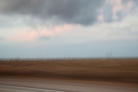 Blurred Landscape (from a moving car), Central California